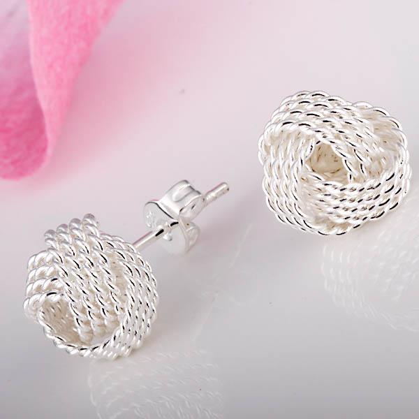 Partihandel - lägsta pris julklapp 925 sterling silver mode örhängen E13