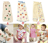 chauffe-enfants achat en gros de-Pantalons Bébé Leg Warmers Chaussettes Bébé Legging Genouillères Bas Kids Arm Warmer Élasticité Chaud Chaussettes