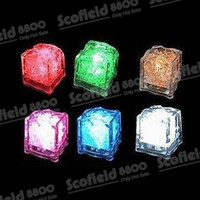 Wholesale Ice Cube Light Free Shipping - Hot!! 200PCS Led Cycle Through Various Colors Ice Cube Light For Party Wedding Christmas Decoration free DHL shipping