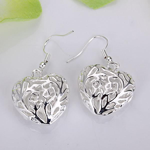 Groothandel - laagste prijs kerstcadeau 925 Sterling zilveren mode oorbellen E075