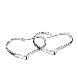 Wholesale American Heart Hoops - Wholesale - lowest price Christmas gift 925 Sterling Silver Fashion Earrings E028