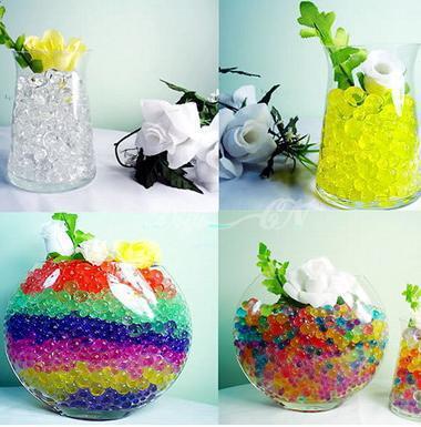 3g / bag Crystal Mud Soil Water Bead Flower Piantare regalo di Natale