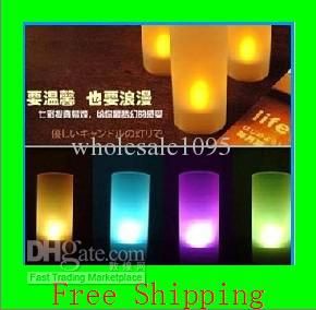 Free shipping ! LED candle light, 7 colors changing candle, wedding or party, New Arrival
