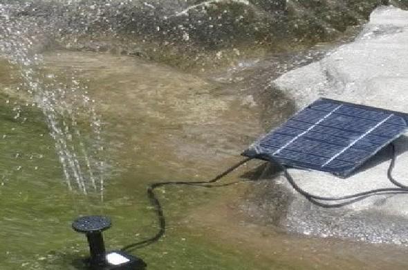 Mini usine de jardin de pompe à eau d'étang de fontaine de panneau de puissance solaire