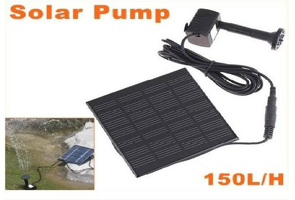 top popular Mini Solar Power Panel Fountain Pond Water Pump Garden Plant 2021