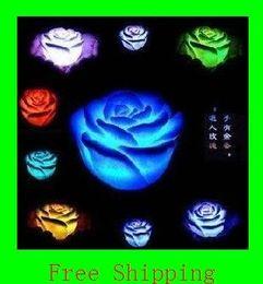 2019 materiales de puesta a tierra Envío gratis Nueva rosa flor LED luz siete colores cambiantes