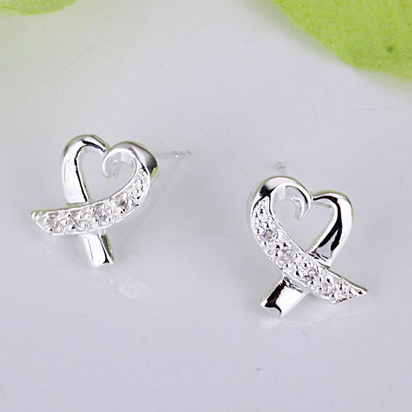 Groothandel - laagste prijs kerstcadeau 925 Sterling zilveren mode oorbellen E53