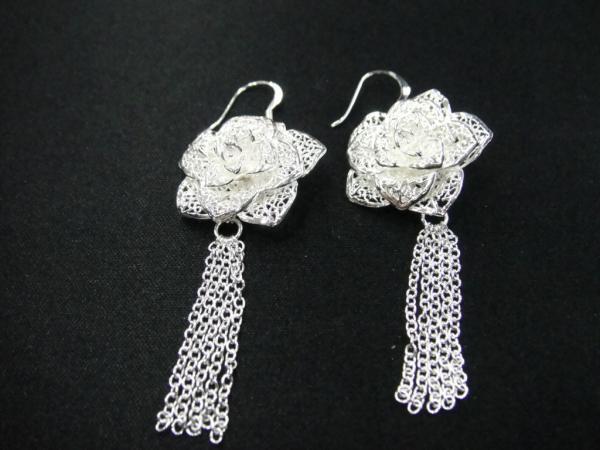 Großhandel - niedrigster Preis Weihnachtsgeschenk 925 Sterling Silber Mode Ohrringe E67