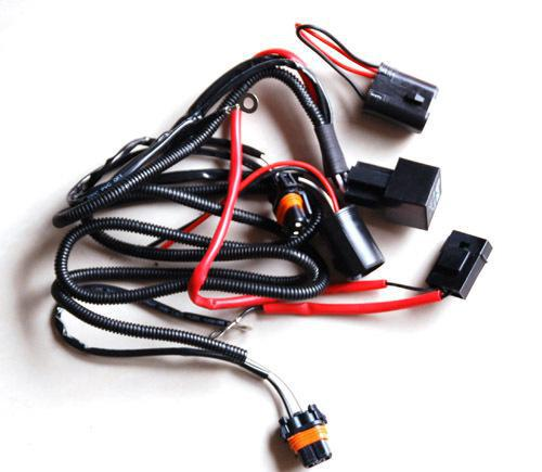 H8 H9 H11 HID XENON CONVERSION KIT VEHICLE RELAY FUSE WIRE WIRING HARNESS 40A NO FLICKER 14VDC