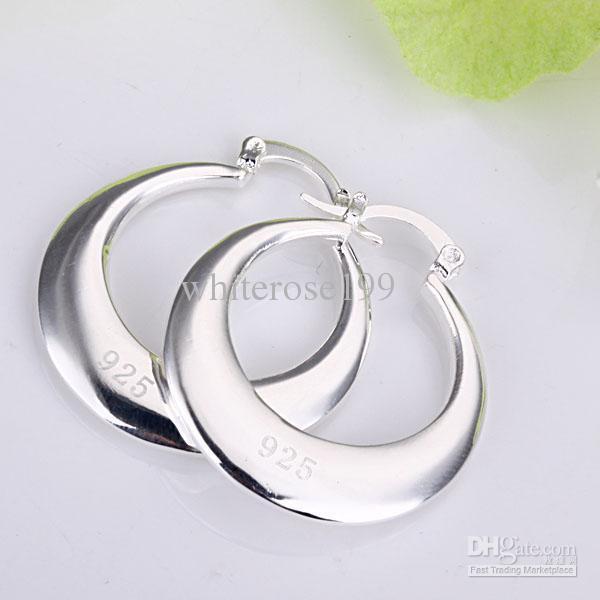 Hurtownie - Najniższa cena Christmas Gift 925 Sterling Silver Moda Kolczyki E81