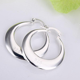 Wholesale Hoop Earrings Wholesale Price - Wholesale - lowest price Christmas gift 925 Sterling Silver Fashion Earrings E81
