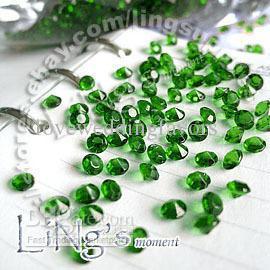 30 % off 1000 1 / 3ct 4.5mm 에메랄드 다이아몬드 색종이 결혼식 호의 테이블 산란 장식