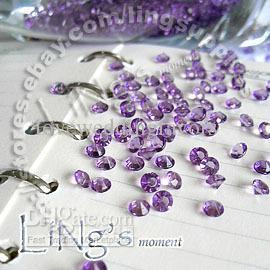 30 % off 1000 1 / 3ct 4.5mm 라벤더 다이아몬드 콘 페티 결혼식 호의적 테이블 장식
