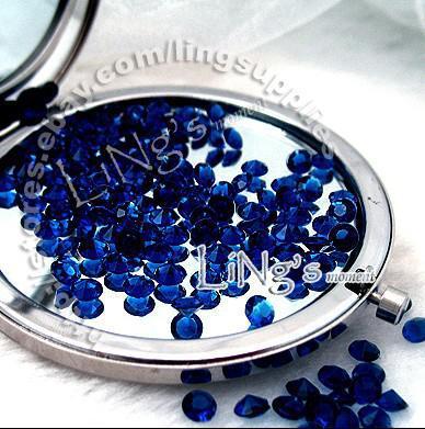 30% de descuento en 1000 1 / 3ct 4.5 mm azul marino confeti de diamantes mesa de boda a favor de la dispersión Decoración