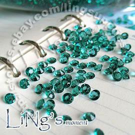 30% de descuento en 1000 1 / 3ct 4.5mm Teal Blue diamond confetti boda favor mesa dispersión Dispersión