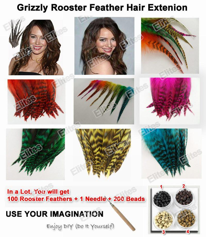Grizzly rooster feather hair extension feathers extensions 1 grizzly rooster feather hair extension feathers extensions 1 needle 200 beads grf201 feather hair extensions online with 5028piece on elitess store solutioingenieria Choice Image