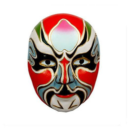 Wholesale Decorating Masks - Venetian Masquerade Masks For Men , Chinese Opera Paper Mache Decorating Mask 30pcs lot mix Free