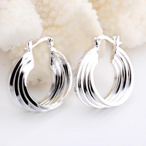 Groothandel - laagste prijs kerstcadeau 925 Sterling zilveren mode oorbellen E157