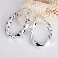 Wholesale Mexican Silver Hoop Earrings - Wholesale - lowest price Christmas gift 925 Sterling Silver Fashion Earrings yE154
