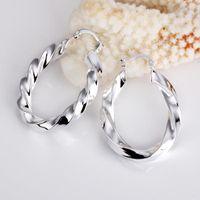 Wholesale sterling silver heart hoop earring - Wholesale - lowest price Christmas gift 925 Sterling Silver Fashion Earrings yE154