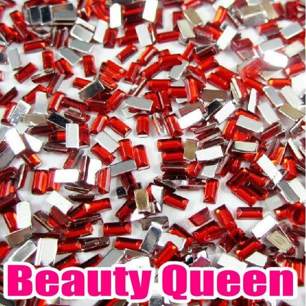 1800 pezzi i rettangolo forma strass glitter nail art perline punte acriliche acrilico pietra nella ruota
