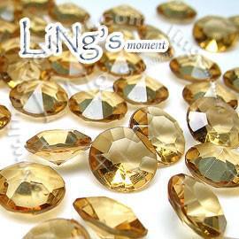 30% de desconto de Alta Qualidade 1000 1ct 6.5mm OURO diamante confete favor do casamento mesa de decoração scatter