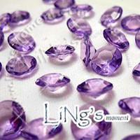 Wholesale Lavender Confetti Wedding Tables - 30% off High Quality 1000 1ct 6.5mm Lavender diamond confetti wedding favor table scatter Decor