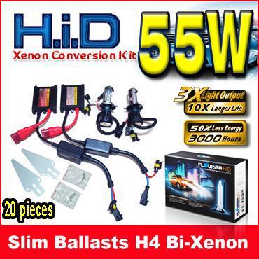5 세트 12V 55W H4 H / L H4-3 9003 이중 크세논 블랙 슬림 안정기 HID 크세논 전환 키트 6K 8K 10K 12K