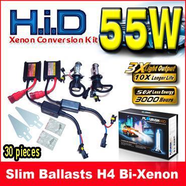 12V 55W H4 H/L H4-3 9003 Bi-xenon Black Slim Ballasts HID Xenon Conversion Kits 6K 8K 10K 12K
