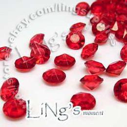 2019 confetti decorazione tavolo Articolo caldo 30% di sconto 1000pcs 2ct 8mm Diamante rosso confetti bomboniera da tavola Decor decorativo confetti decorazione tavolo economici