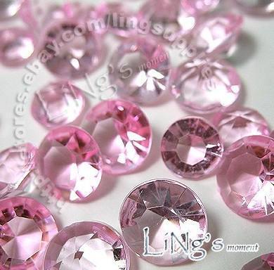 최저 가격 30 % 할인 500PCS 4ct 10mm 핑크 다이아몬드 색종이 결혼식 호의 표 산란 장식