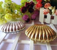 Wholesale Shell Wedding Favor Boxes - 50 pcs Silver Gold Shell Wedding Candy Box Favors Wedding Christmas Gift Party Boxes