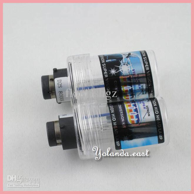 20 paren 2 stks paar D2 D2S D2R D2C HID Xenon Vervangingslamp met adapter 4.3K 6K 8K 10K 12K