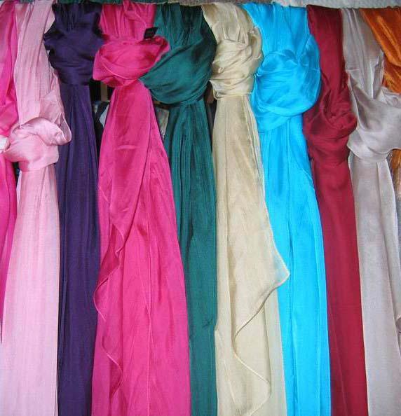 Kvinnor damer vanlig fast färg 100% silke scarf sjal wrap scarf halsdukar scarf mjuk 12st / # 1433