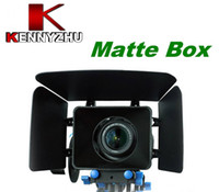 Wholesale Movie Kits - DSLR Movie Kit Matte Box For 15mm Rail Rod Support System Video Cameras 7D 5D MARK II 60D 600D D90