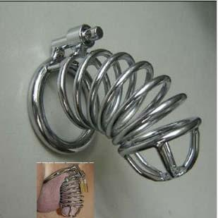 Small stainless steel chastity device A080 (male metal chastity belt male chastity belt stainless st