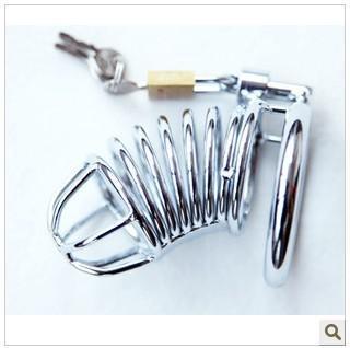 Kleine roestvrijstalen kuisheidsapparaat A080 (mannelijke metalen kuisheidsgordel mannelijke kuisheidsgordel roestvrij st