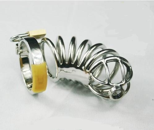 작은 스테인레스 스틸 순도 장치 A080 (남성 금속 순결 벨트 남성 순결 벨트 스테인리스 세인트
