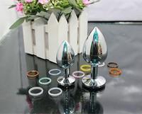 sex toys rosebud achat en gros de-BDSM sex toys en acier inoxydable attrayant plug anal bijoux / bijoux Anal Plug / Rosebud Anal bijoux