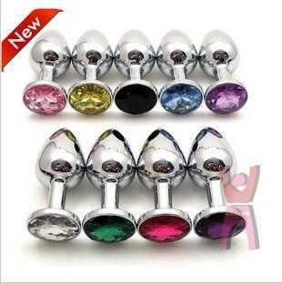 BDSM Seksspeeltjes Rvs Aantrekkelijke Butt Plug Sieraden / Jeweled Anale Plug / Rosebud Anale sieraden