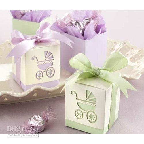 Colorful Gift Box Cube Pram Piercing Wedding Baby Shower Gift ...
