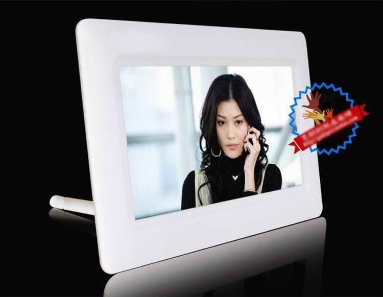 7 inç dijital fotoğraf çerçevesi. dijital çerçeve, dijital fotoğraf çerçevesi, beyaz / siyah / pembe çerçeve.