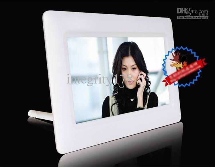 도매 7 인치 TFT LCD 디지털 포토 프레임. 디지털 사진 프레임, 화이트 / 블랙 / 핑크 프레임.