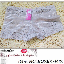Wholesale Sexy Girl Boxer Briefs - Briefs Underwear Panty Boxer Shorts Undepants Girls Knickers Women Sexy 10Pcs Lot Mix Color&Style