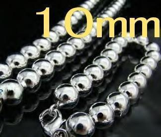 Wholesale - lowest price Christmas gift 925 silver 10MM SOLID BEADS Necklace+Bracelet set S26