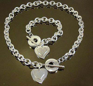 Wholesale - lowest price Christmas gift 925 silver Necklace+Bracelet set S65