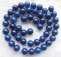 achat produkte großhandel-DIY Halbzeuge ausgezeichnete Qualität Blue Agate Runde Perlen 4mm 6mm 8mm 10mm 12mm 15 Zoll