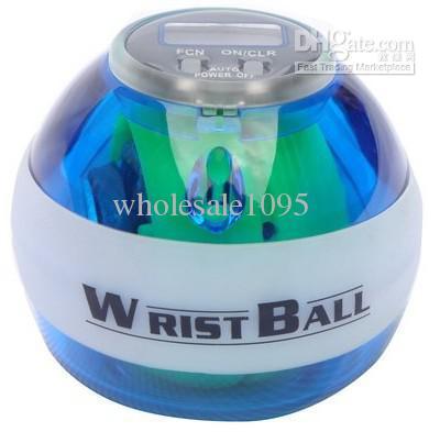 O contador do LCD da cor da mistura conduziu a bola do poder de luzes com pacote de varejo, bola de pulso, Powerball