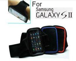 Wholesale Sport Case S2 - 50pcs Black Sports Armband Case For Samsung Galaxy S2 i9100 NEW