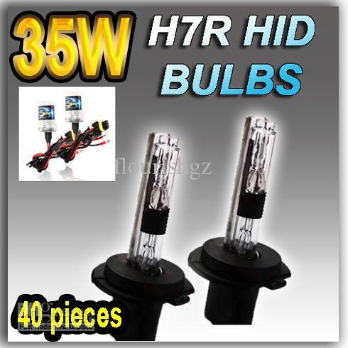 20 쌍 H7 H7R 12V / 35W HID 제논 교체 램프 전구 표시 등 4300K 6000K 8000K 10000K 12000K
